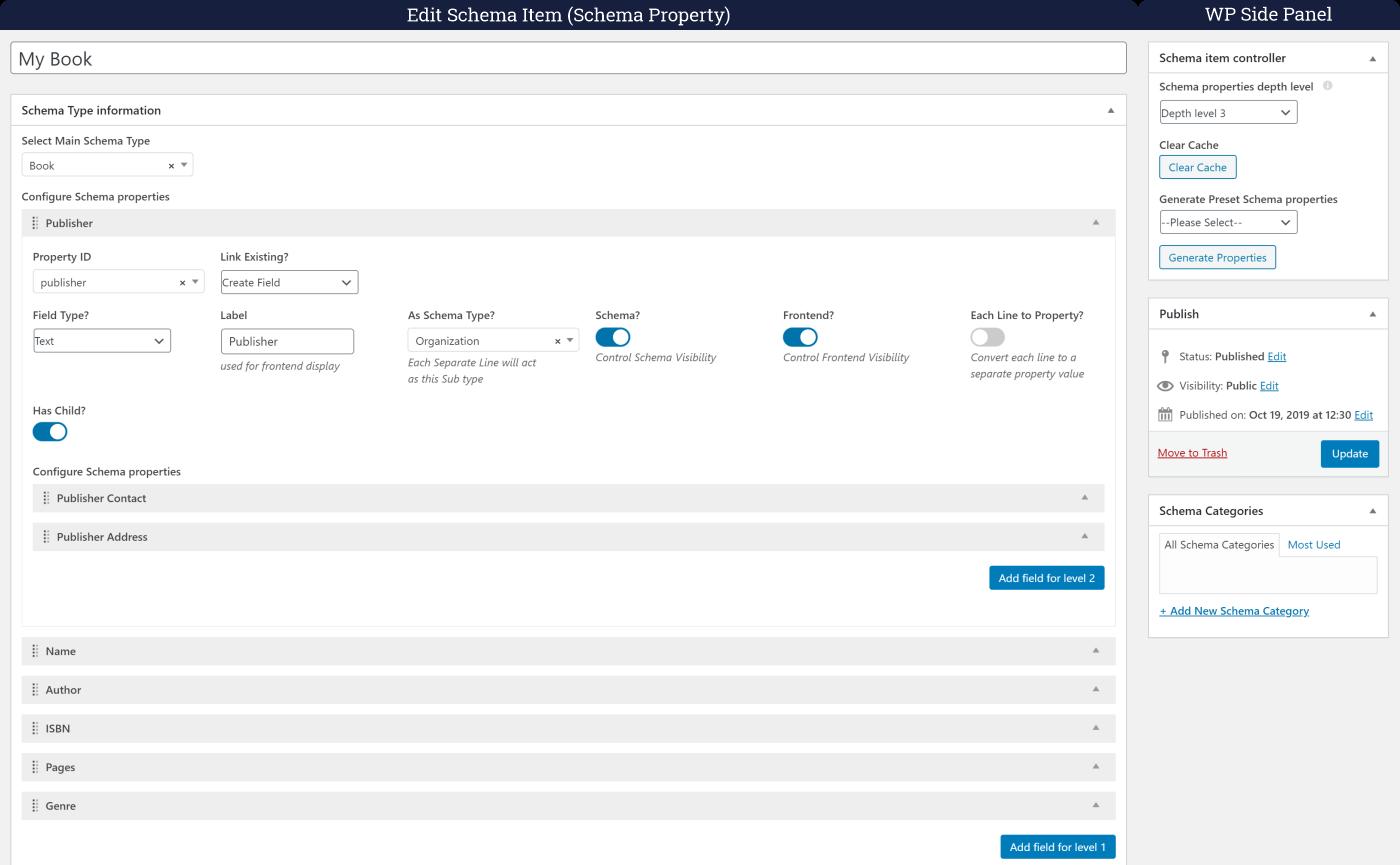 schema item preview